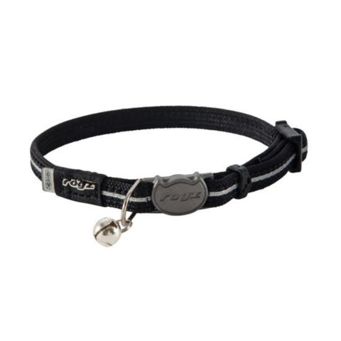 Rogz Black AlleyCat Break Away Kitten & Cat Collar