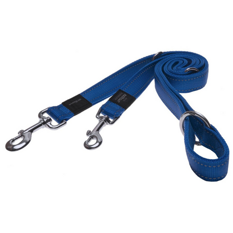 Rogz Blue Fixed Utility Reflective Dog Leash