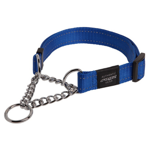 Rogz Blue Reflective Utility Obedience Dog Collar