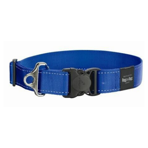 Rogz Blue Reflective Utility Side Release  Dog Collar