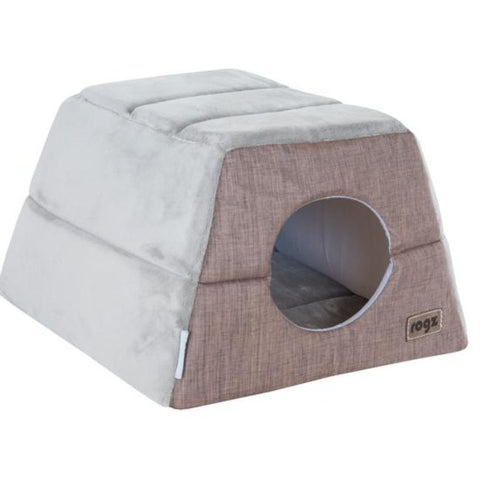 Rogz Cuddle Igloo Cat Cube - Brown