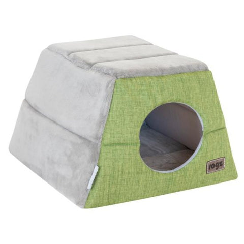 Rogz Cuddle Igloo Cat Cube - Green