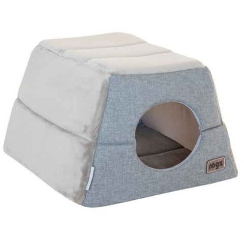 Rogz Cuddle Igloo Cat Cube - Grey