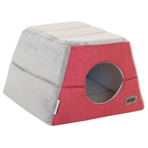 Rogz Cuddle Igloo Cat Cube - Red
