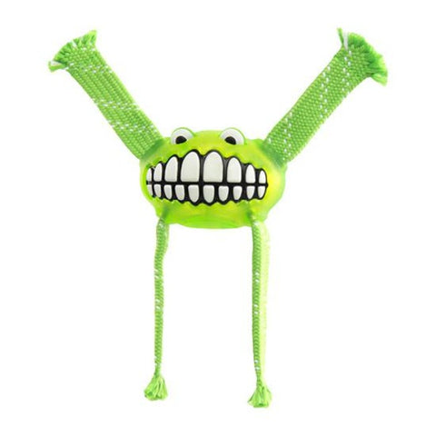 Rogz Flossy Grinz Oral Care Dog Toy - Lime