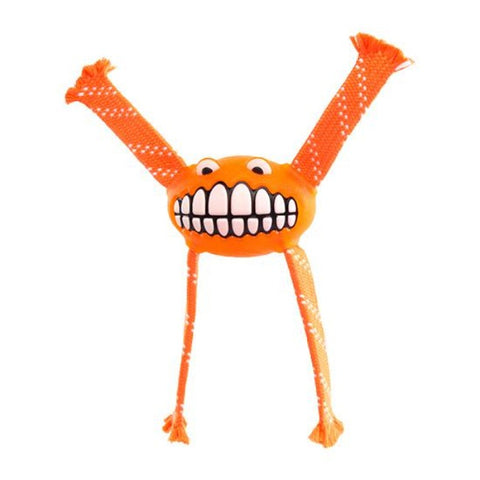 Rogz Flossy Grinz Oral Care Dog Toy - Orange
