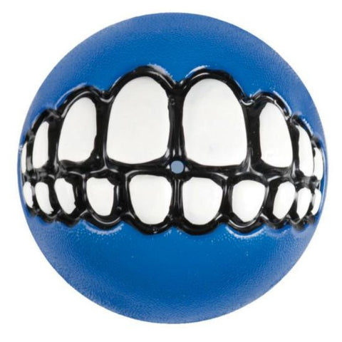 Rogz Grinz Dog Treat Ball Toy - Blue
