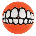 Rogz Grinz Dog Treat Ball Toy - Orange