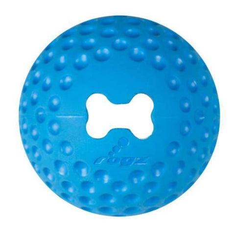 Rogz Gumz Dog Treat Ball Toy - Blue