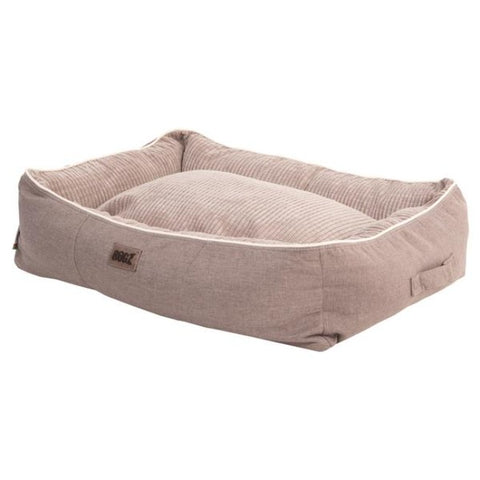 Rogz Indoor 3D Pod Dog Bed - Natural & Sand