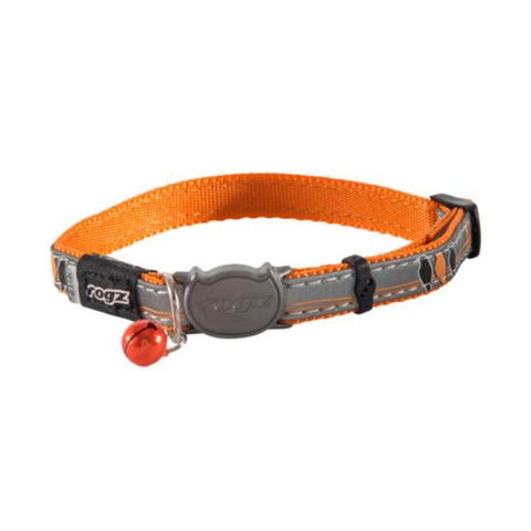 Rogz Orange NightCat Break Away Kitten & Cat Collar