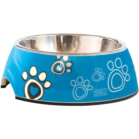 Rogz Paw 2-in-1 Bubble Bowls - Blue