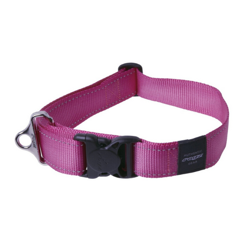 Rogz Pink Reflective Utility Side Release  Dog Collar