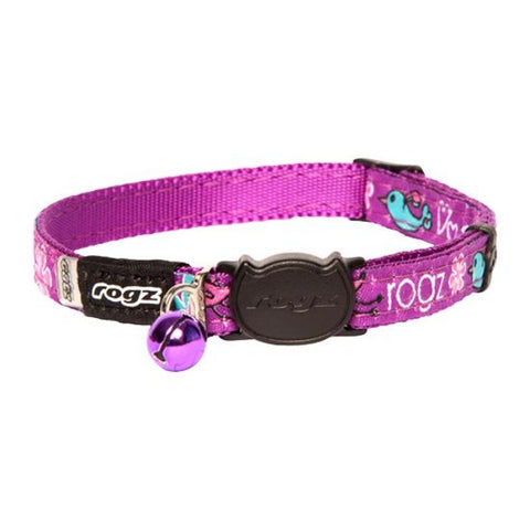 Rogz Purple FancyCat Break Away Kitten & Cat Collar