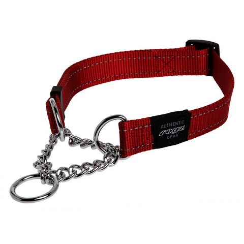 Rogz Red Reflective Utility Obedience Dog Collar