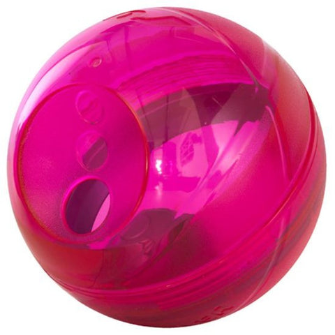 Rogz Tumbler Slow Feeder Dog Toy - Pink