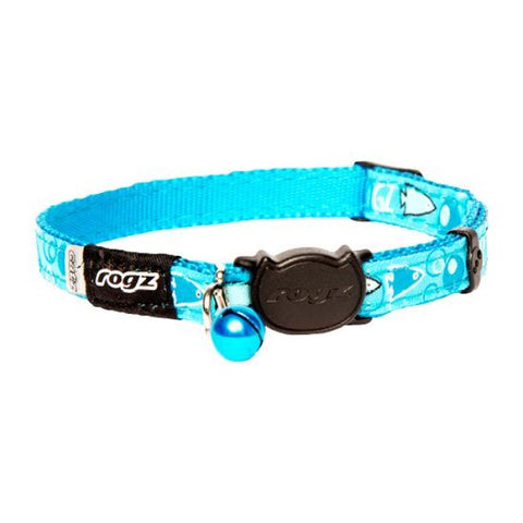 Rogz Turquoise FancyCat Break Away Kitten & Cat Collar