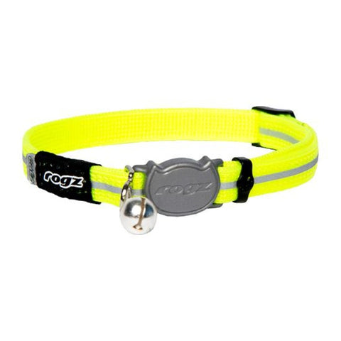 Rogz Yellow AlleyCat Break Away Kitten & Cat Collar