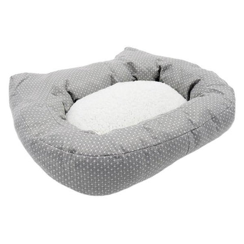 Rosewood Dotty Cat Bed - Grey