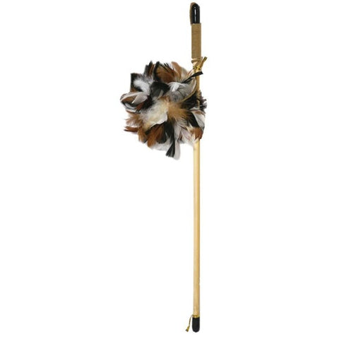 Rosewood Natural Feathers Wand Cat Toy