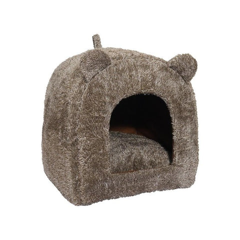 Rosewood Teddy Bear Cat Cube - Brown