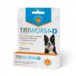 Triworm-D Medium Dog Deworming Tablet