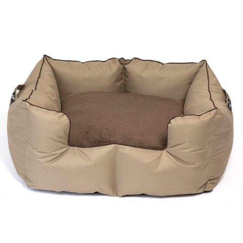 WagWorld Fleece K9 Castle Dog Bed - Brown