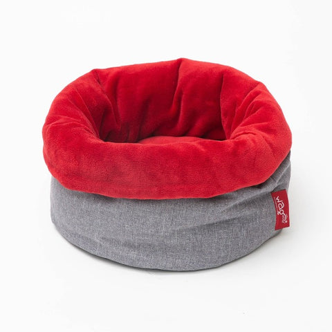 WagWorld Nap Sack Dog & Cat Bed - Grey & Red
