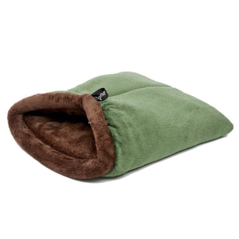 WagWorld Nookie Dog Blanket - Chocolate & Green