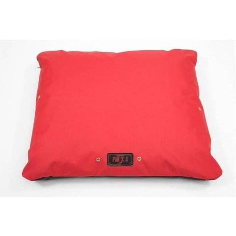 WagWorld Paw X4 Dog Cushion - Red