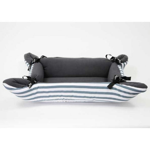 WagWorld Stripes CupCake Dog Bed - Grey