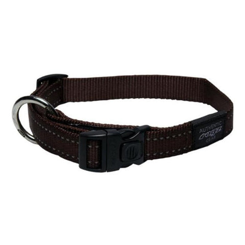 Rogz Brown Reflective Utility Side Release  Dog Collar