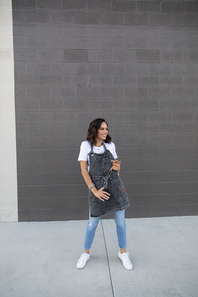 Acid Charcoal Denim Apron