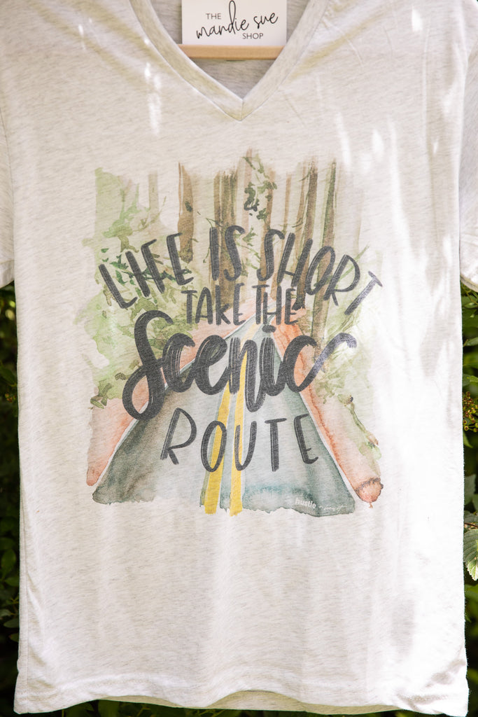 Take The Scenic Route Graphic Tee