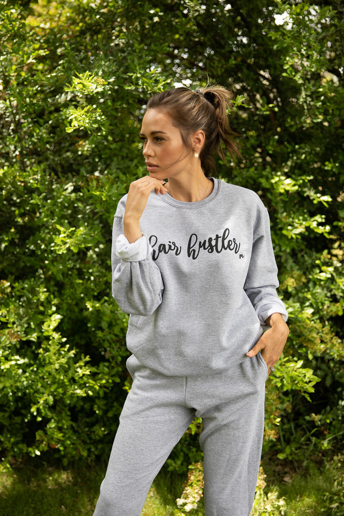 Hair Hustler Pullover & Jogger Set (Heather)