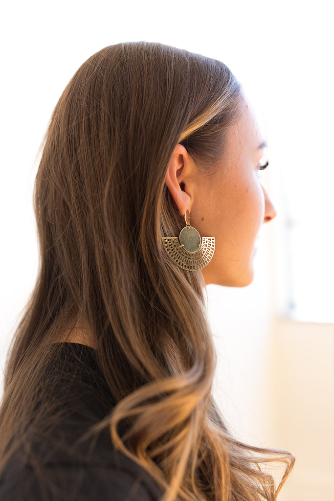 Perforated Gold Earrings