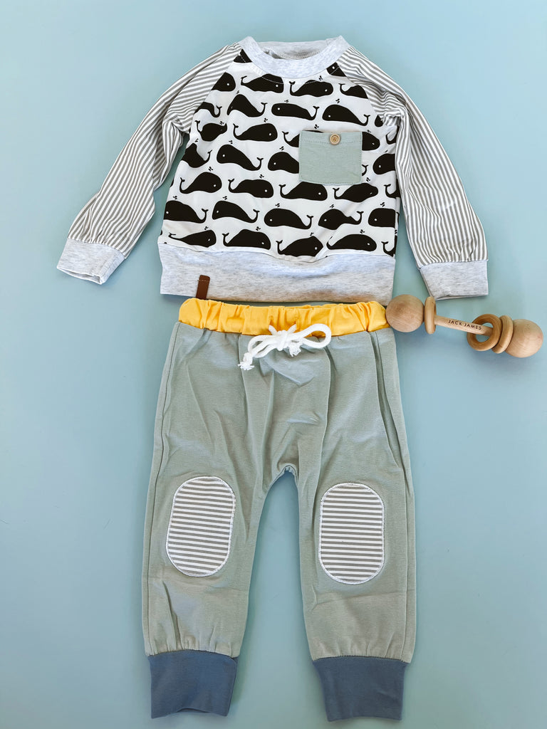 Whale Pullover Sweater + Jogger Set