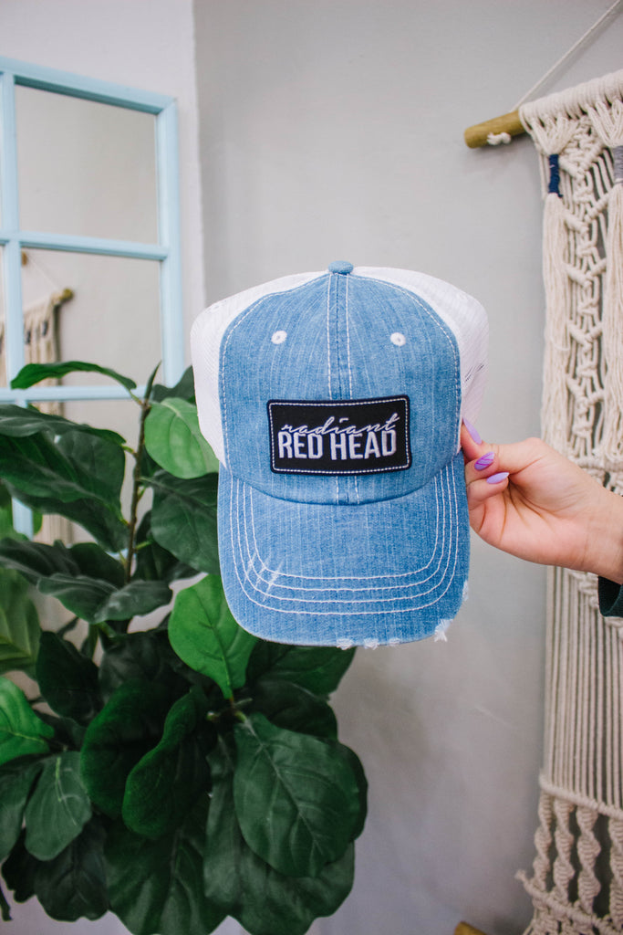 Light Denim Trucker Patch Cap