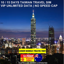 Load image into Gallery viewer, 10/15 Days Taiwan Travel SIM Card | Premium Unlimited Data | No Speed Cap