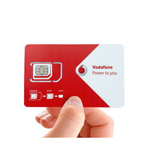 Load image into Gallery viewer, Vodafone Europe + UK 30-in-1 Travel SIM Card | 28 days 2-8GB data | Local calls/txts