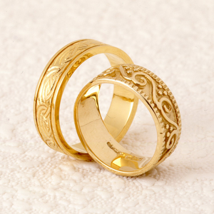 Two rings together symbolising eternal love