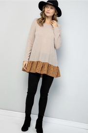 Catch a Glimpse Fleece Ruffle Tunic