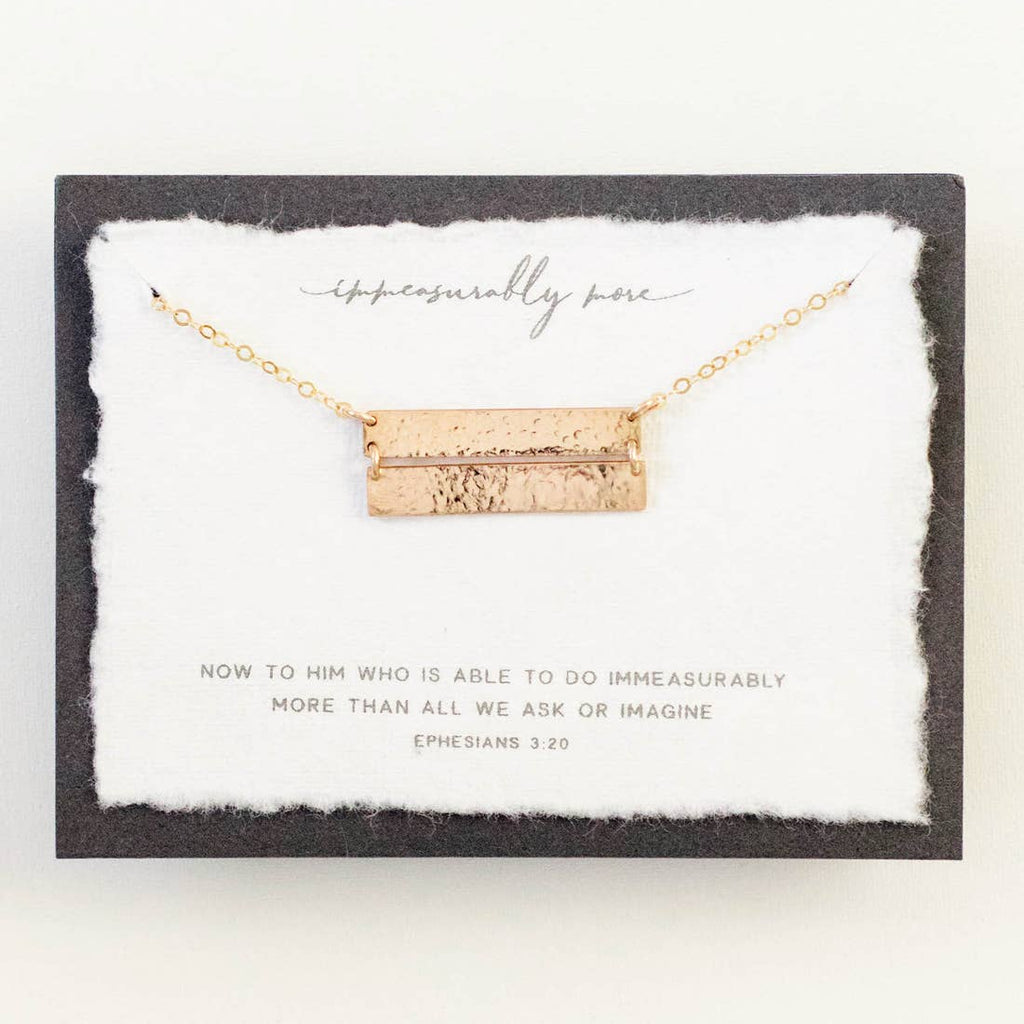 Immeasurably More Gold Necklace