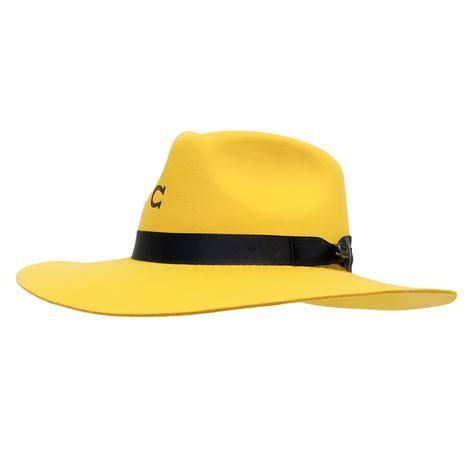 Charlie 1 Horse Highway Wool Floppy Yellow Hat