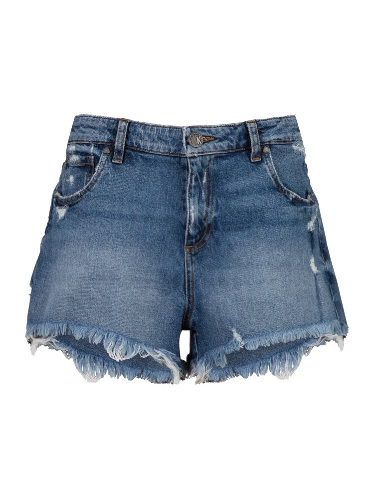 KUT from the Kloth Jane High Rise Relaxed Short Instruction Wash