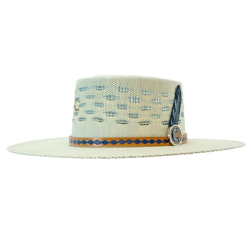 "Charlie 1 Horse ""Blue Roan"" Natural Straw Hat"