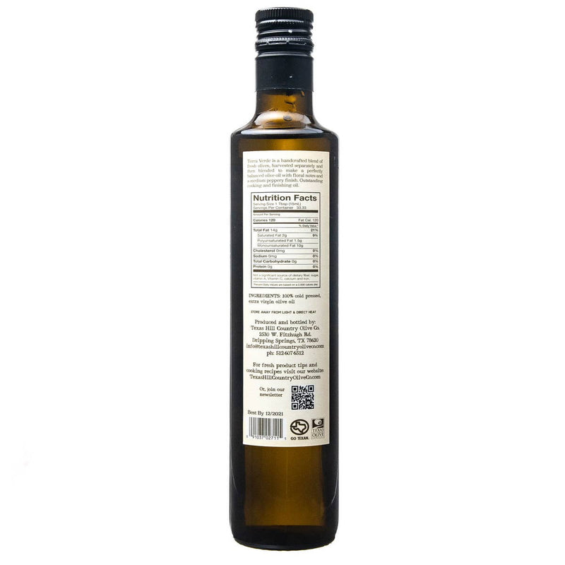 Terra Verde Extra Virgin Olive Oil | TX Hill Country Olive Co.
