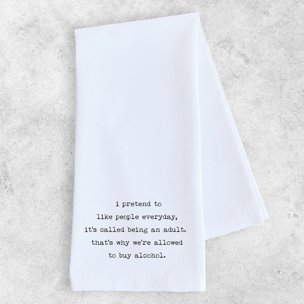 Tea Towel | Being An Adult