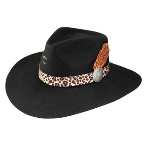 "Charlie 1 Horse ""Heatseeker"" Wool Black Hat"
