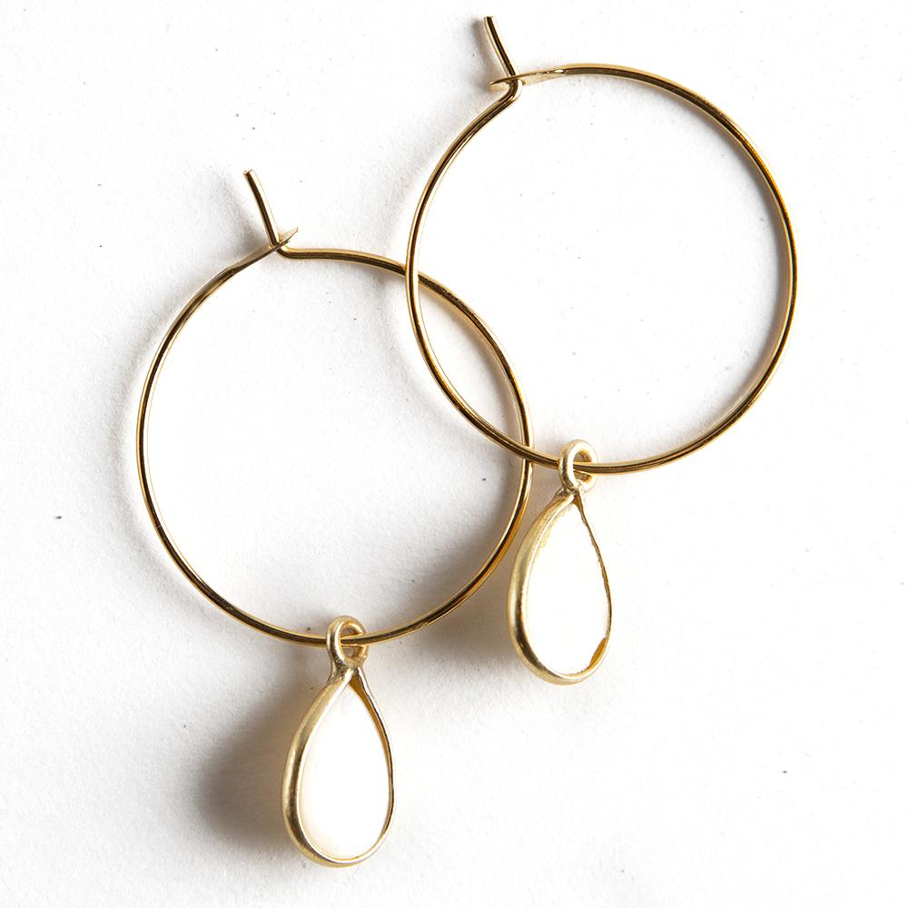 Lenny & Eva Berklee Earrings + Pearl